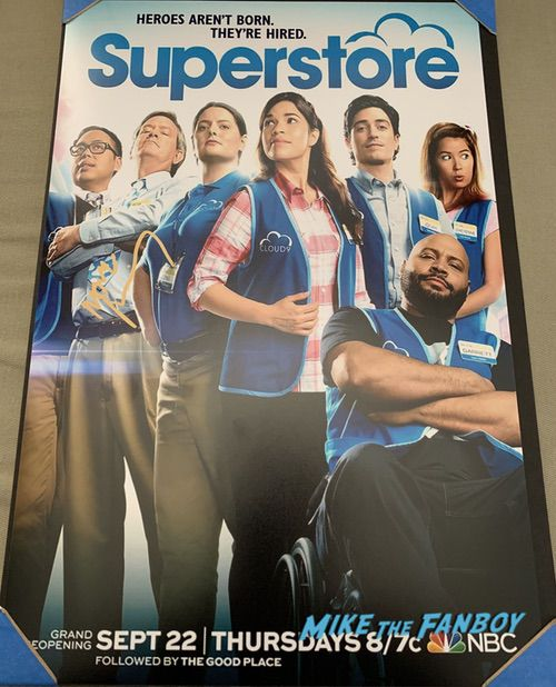 Mark McKinney signed superstore poster
