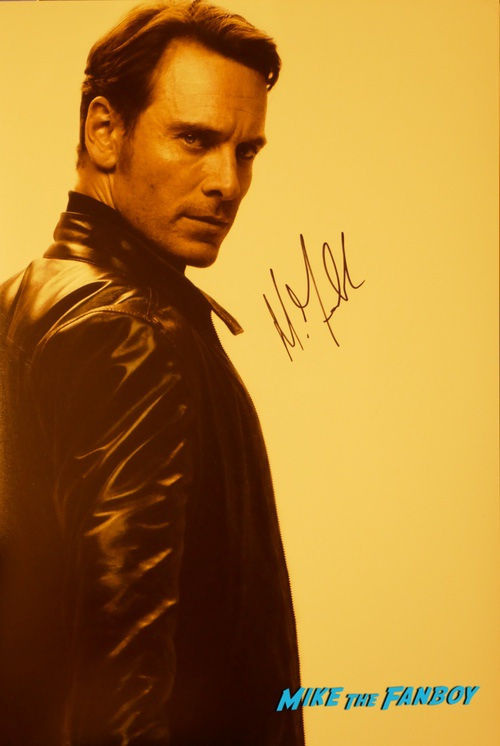 Michael Fassbender signing autographs jimmy kimmel live