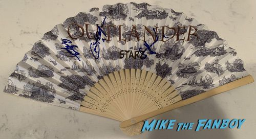 Outlander Cast signed autograph fan sam heughan Caitriona Balfe