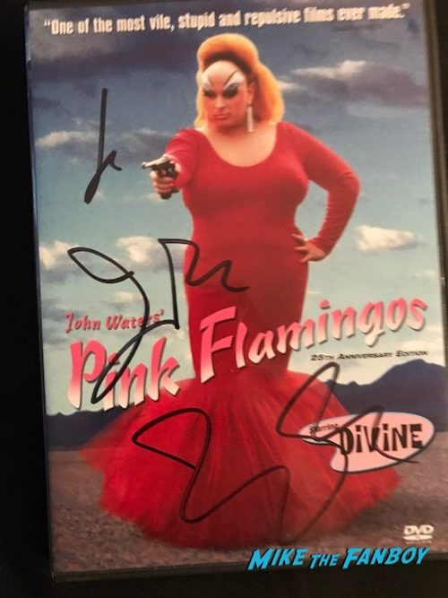 john waters signed autograph pink flamingos DVD