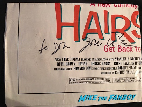 john waters signed autograph Hairspray poster