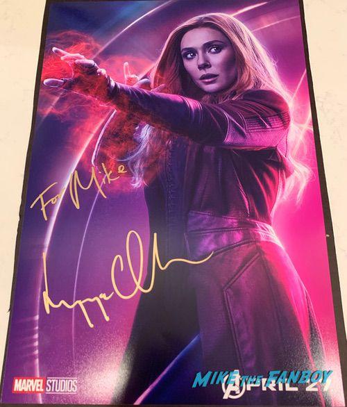 Elizabeth Olsen Signed Autograph Scarlet Witch avengers endgame poster