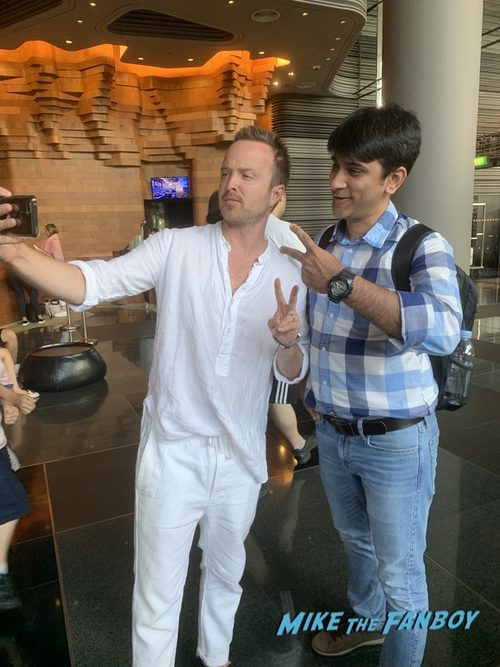 Aaron Paul with fans Singapore