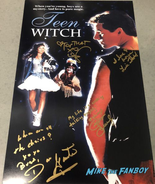 teen witch cast signed autograph poster