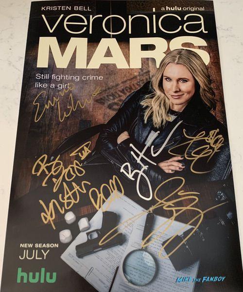 Veronica Mars season four cast signed poster kristen bell