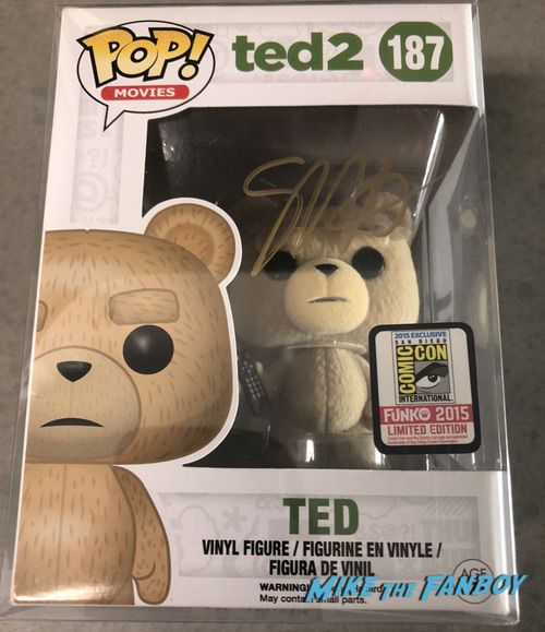Seth Macfarlane signed autograph Ted 2 funko pop