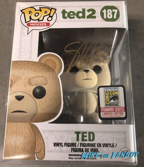 Seth Macfarlane signed autograph Ted 2 funko pop