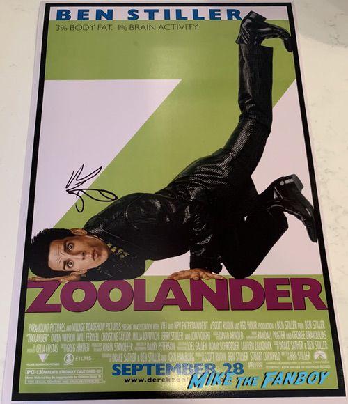 Ben Stiller signed autograph zoolander poster rare