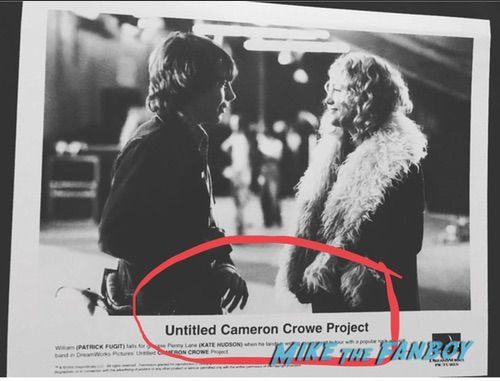 Cameron Crowe signed autograph almost famous press still