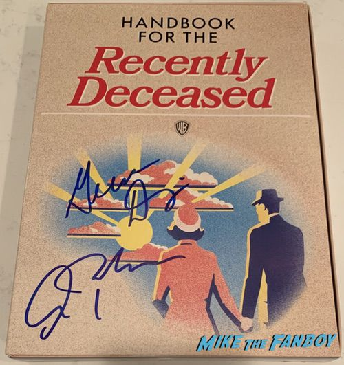 Beetlejuice VHS presskit handbook for the recently deceased signed by Geena Davis autograph