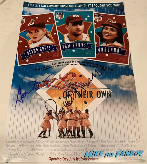 Geena Davis signed autograp a league of their own poster