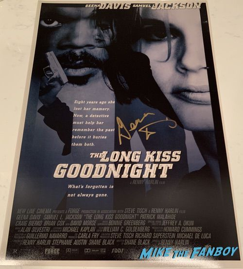 Geena Davis signed autograph the long kiss goodnight poster