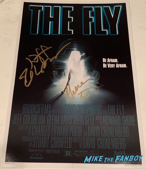 Geena Davis signed autograph The Fly poster