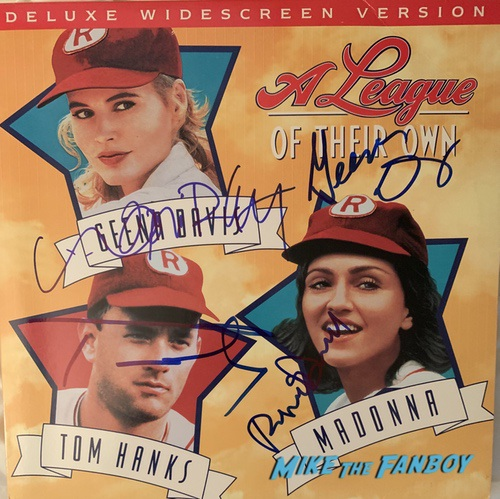 Geena Davis signed autograph a league of their own poster