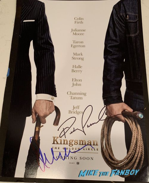 Julianne Moore signed autograph kingsmen poster rare promo