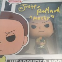 Justin Rolland Signed Autograph funko pop Rick and Morty 0000