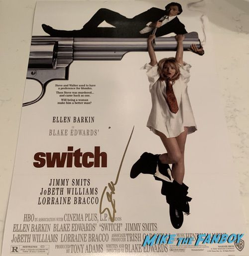 Ellen Barkin signed autograph switch poster photo PSA