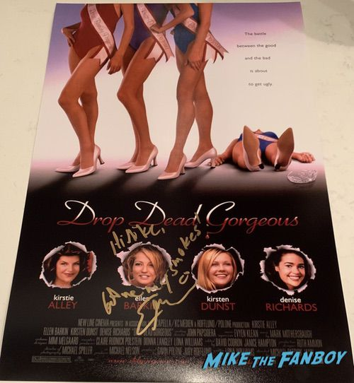 Ellen Barkin signed autograph drop dead gorgeous poster photo PSA