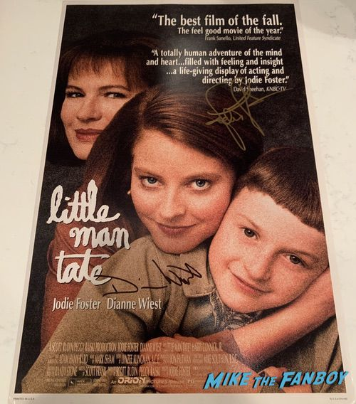 Jodi Foster signed little man tate  poster