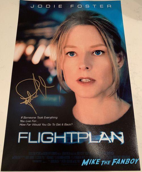 Jodi Foster signed Flightplan poster