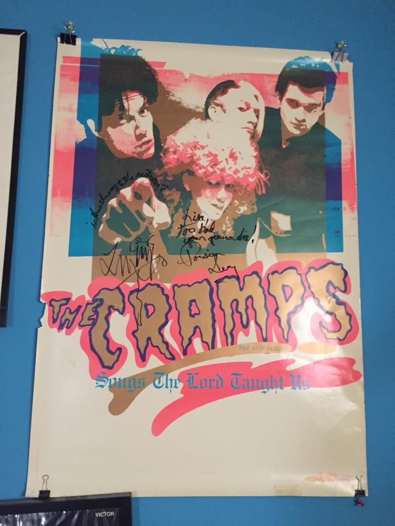 The Cramps Signed Autograph Poster