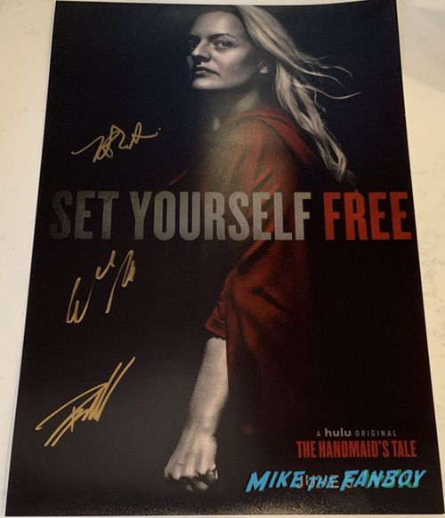 The Handmaid's Tale season three signed autograph poster elisabeth moss
