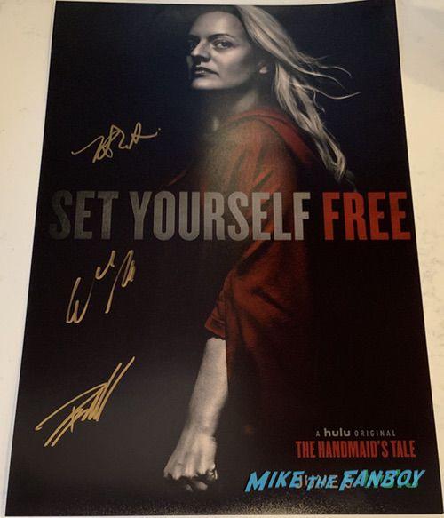 The Handmaid's Tale season three signed autograph poster elisabeth moss