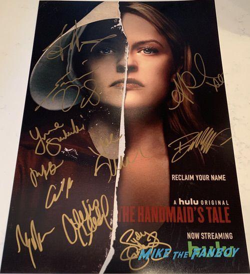 The Handmaid's Tale season 2 signed autograph poster elisabeth moss