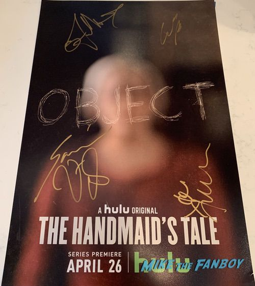 The Handmaid's Tale season one signed autograph poster elisabeth moss