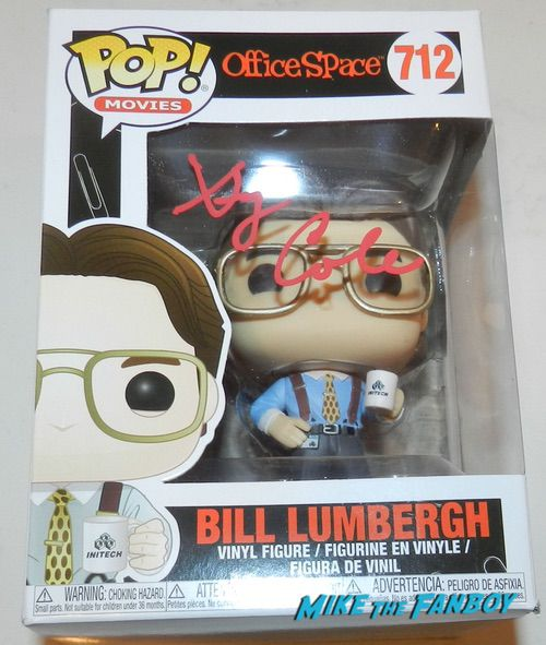gary cole SIGNED AUTOGRAPH office space funko pop