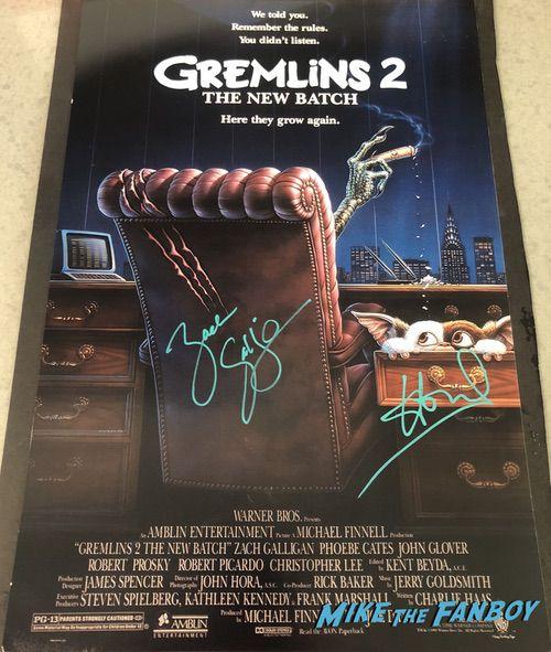 Howie Mandel signed autograph Gremlins poster