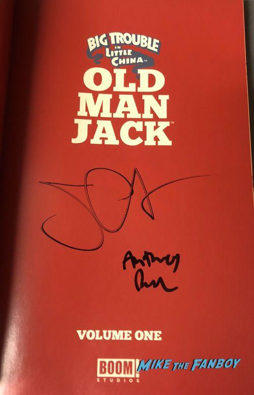 John Carpenter signed old man jack book