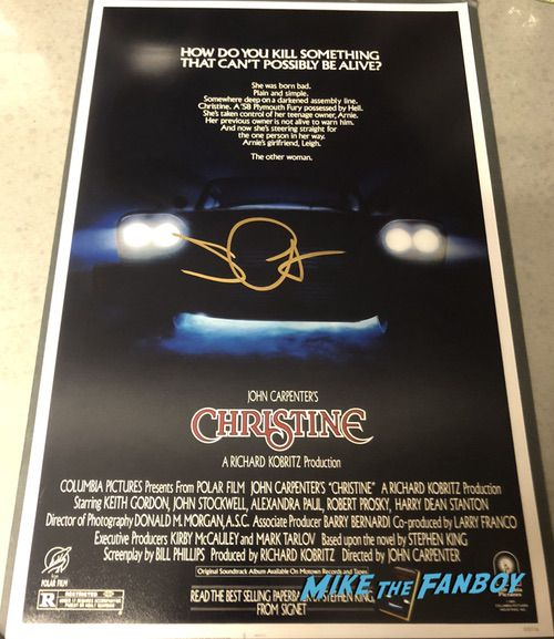 John Carpenter signed autograph christine poster