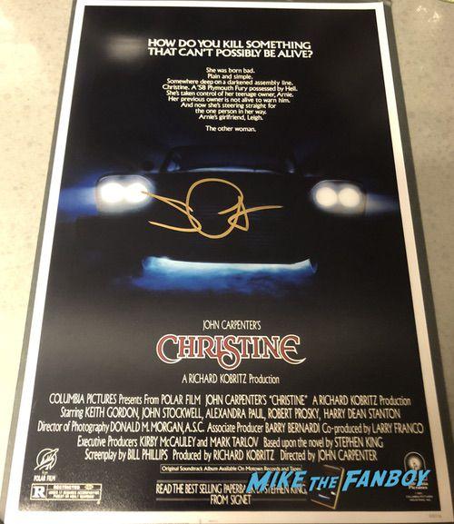 John Carpenter signed autograph christine poster