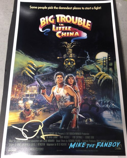 John Carpenter signed autograph big trouble in little china poster