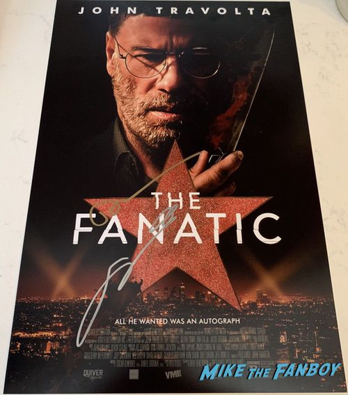 John Travolta signed autograph the fanatic poster devon sawa