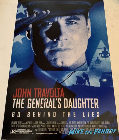 John Travolta signed autograph the general's daughter poster psa