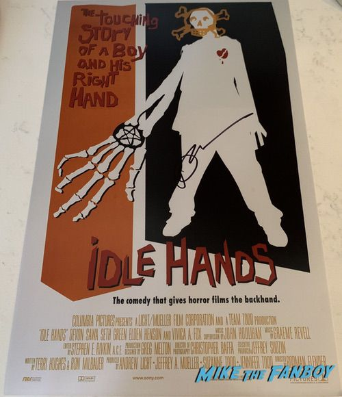 Devon Sawa signed Idle Hands  poster psa