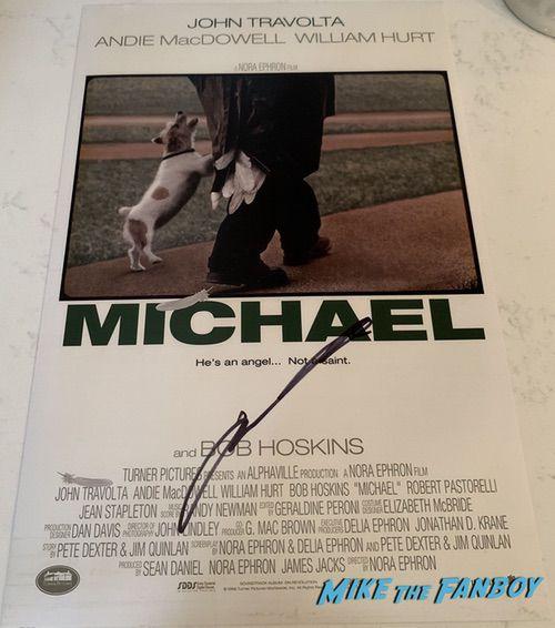 John Travolta signed autograph michael poster psa