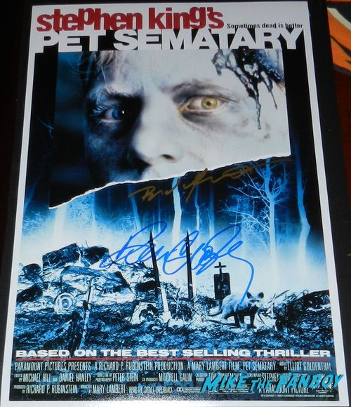 Pet Sematary signed autograph poster denise crosby brad greenquist psa