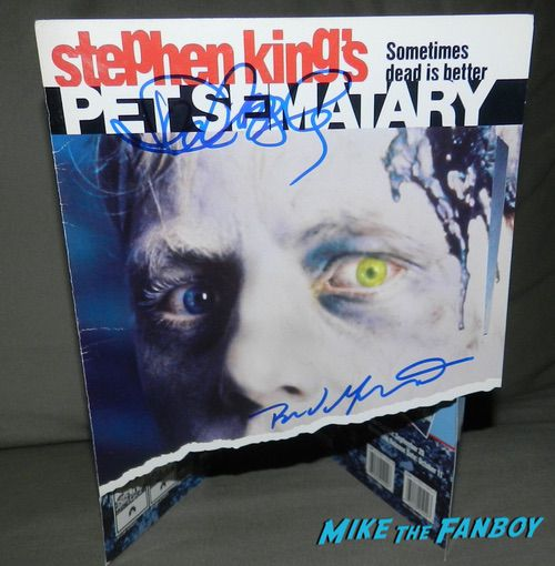 Pet Sematary counter stand standee signed autograph poster denise crosby brad greenquist psa
