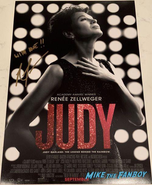 Renée Zellweger signed autograph Judy poster