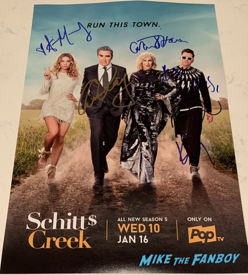 Schitt's Creek signed autograph poster eugene levy catherine O'Hara Annie Murphy