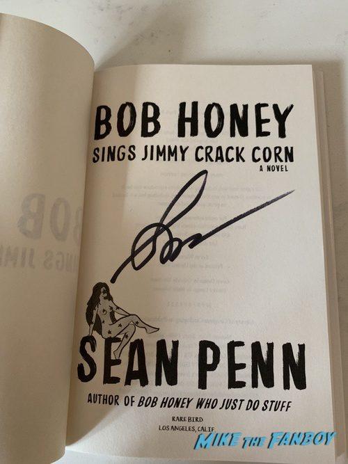 Sean Penn signed autograph book bob honey