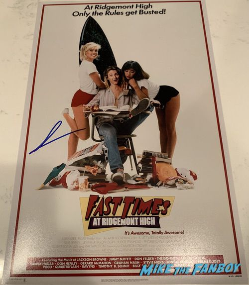 Sean Penn signed autograph fast times at Ridgemont high poster