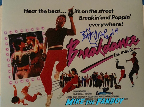 Michael Chambers signed Autograph Breakin Poster