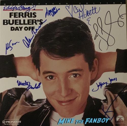 Ferris Beuller signed autograph laserdisc matthew broderick lyman ward
