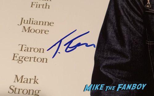 Taron Egerton Signed Autograph Kingsman poster