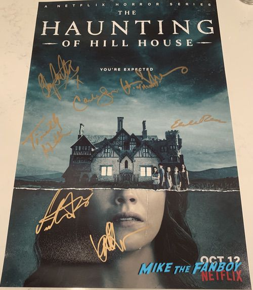 The Haunting of Hill House signed autograph season one poster carla gugino