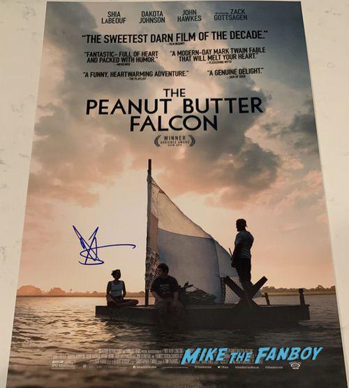 Shia LaBeouf signed peanut Butter Falcon poster